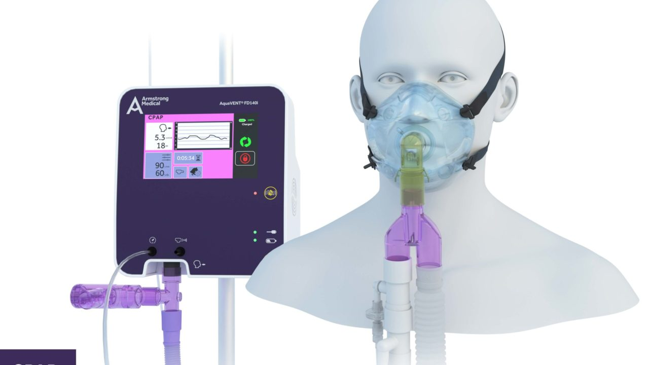 Image of FD140i with CPAP Face Mask setup