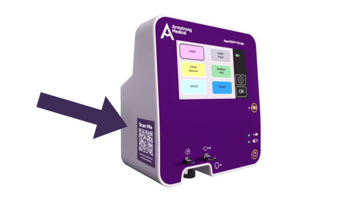 Image of our FD140i dual flow driver with QR code on the side