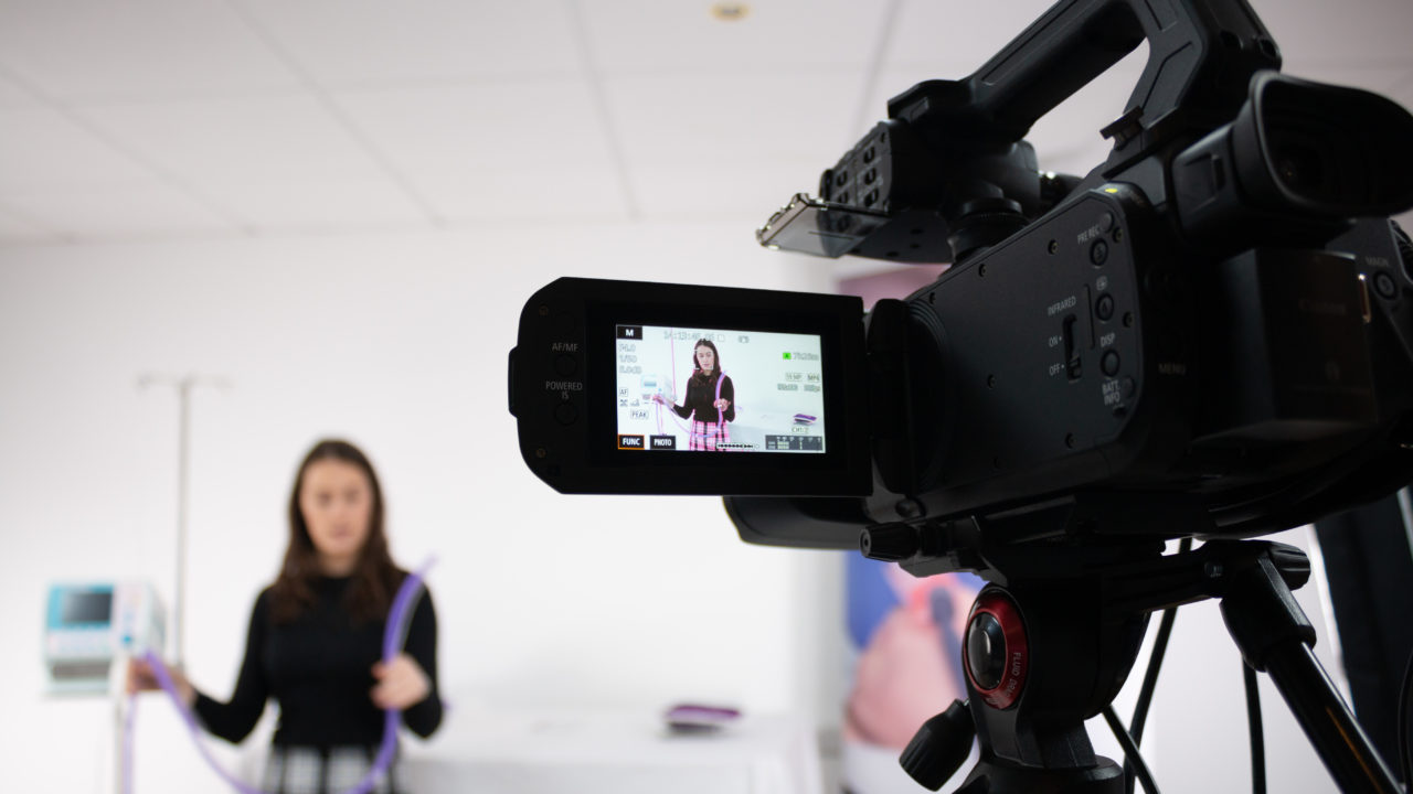 Photo of training session behind the camera