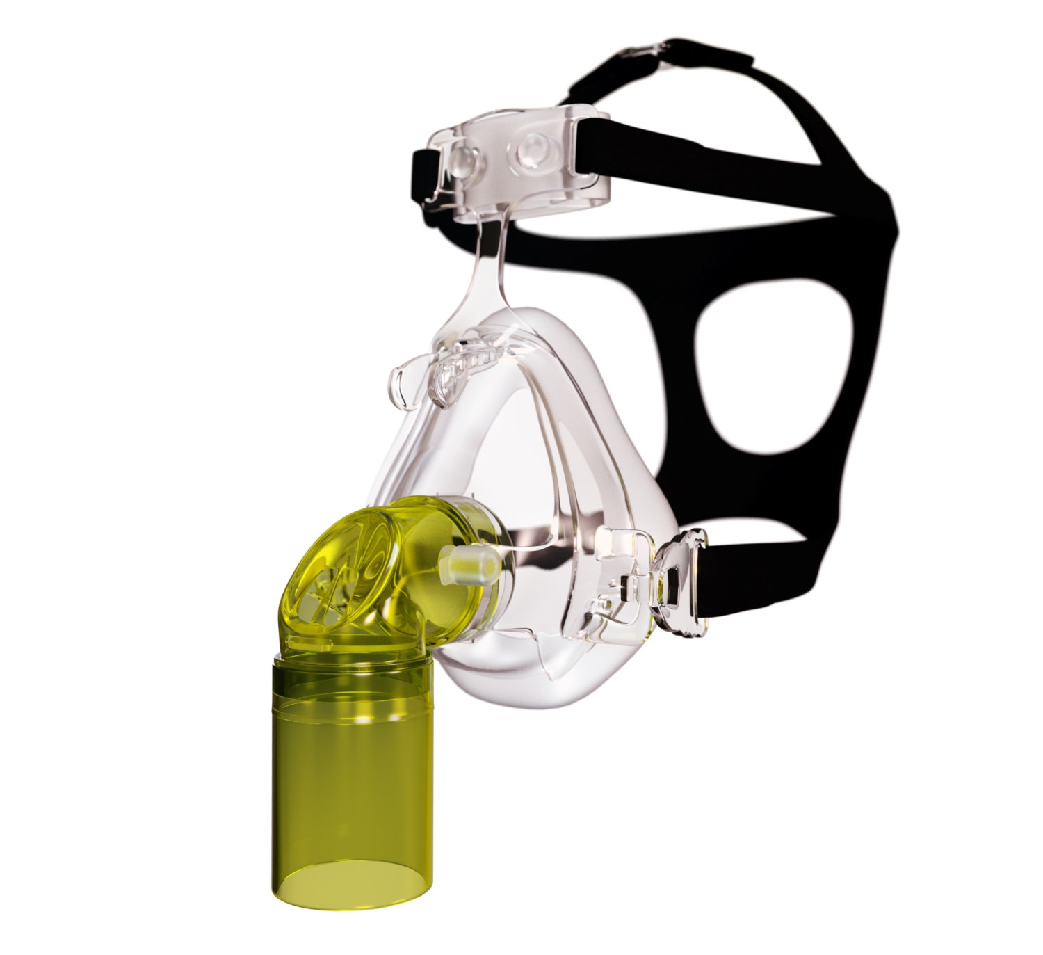 Image of paediatric face mask with head gear
